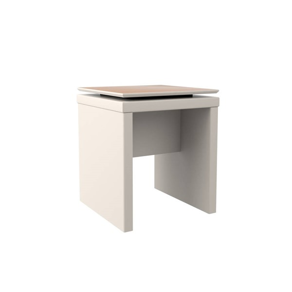 Manhattan Comfort Lincoln Off White Sled Base End Table MHC-89551