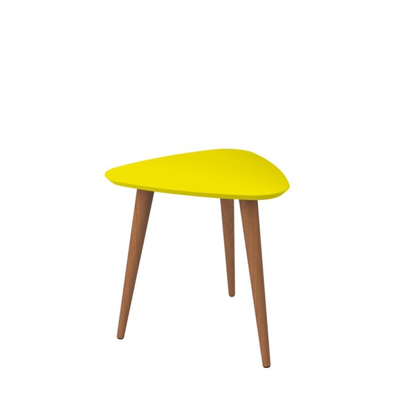 Manhattan Comfort Utopia Yellow Triangle End Table MHC-89853
