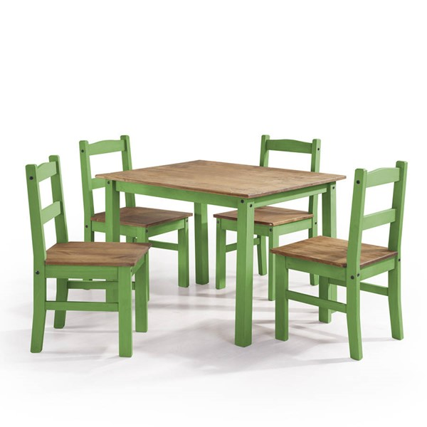Manhattan Comfort York Green 5pc Dining Room Set MHC-CS18004