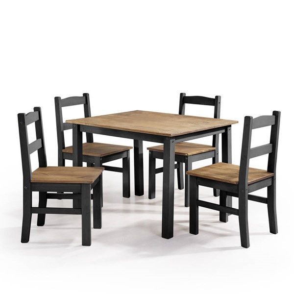 Manhattan Comfort York Black 5pc Dining Room Set MHC-CS18007