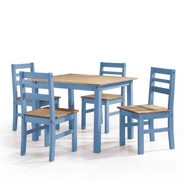 Manhattan Comfort Maiden Blue 5pc Dining Room Set MHC-CS18201