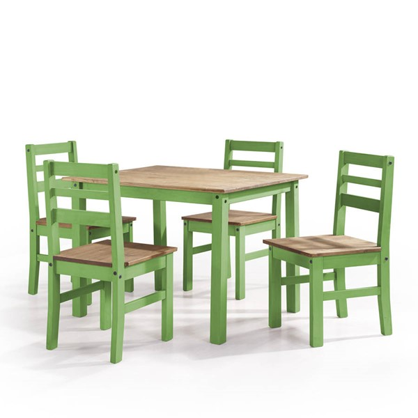 Manhattan Comfort Maiden Green 5pc Dining Room Set MHC-CS18204