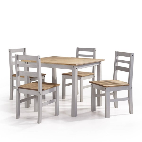 Manhattan Comfort Maiden Gray 5pc Dining Room Set MHC-CS18205