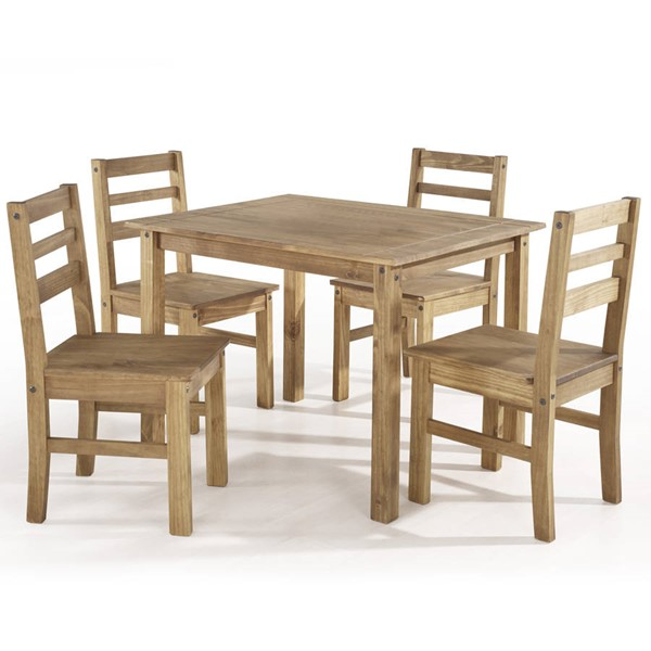 Manhattan Comfort Maiden Nature 5pc Dining Room Set MHC-CS18206