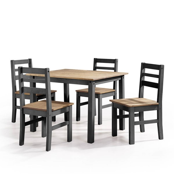 Manhattan Comfort Maiden Black 5pc Dining Room Set MHC-CS18207