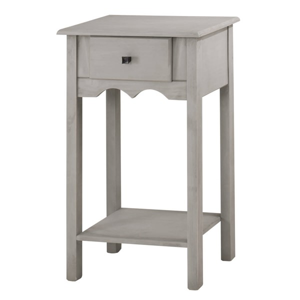 Manhattan Comfort Jay Gray Full Extension Drawer Tall End Table MHC-CS50005
