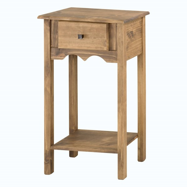 Manhattan Comfort Jay Nature Full Extension Drawer Tall End Table MHC-CS50006