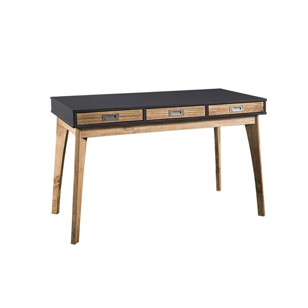Manhattan Comfort Jackie Dark Grey Natural Home Office Desk MHC-CS96209