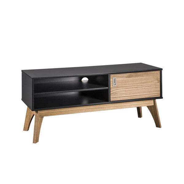 Manhattan Comfort Jackie Dark Grey Natural 43.3 Inch TV Stand MHC-CS96709