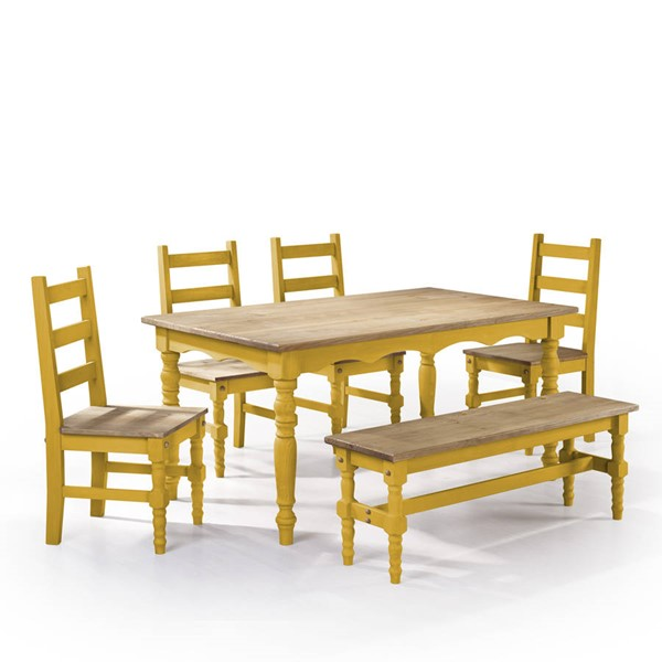 Manhattan Comfort Jay Yellow 6pc Dining Room Set MHC-CSJ102