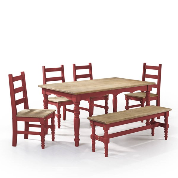 Manhattan Comfort Jay Red 6pc Dining Room Set MHC-CSJ103
