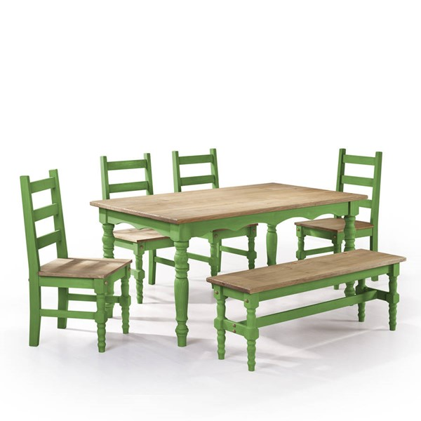 Manhattan Comfort Jay Green 6pc Dining Room Set MHC-CSJ104