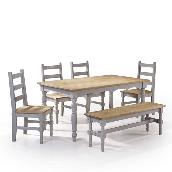 Manhattan Comfort Jay Gray 6pc Dining Room Set MHC-CSJ105