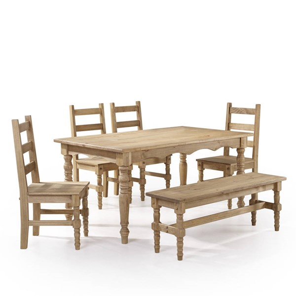 Manhattan Comfort Jay Nature 6pc Dining Room Set MHC-CSJ106