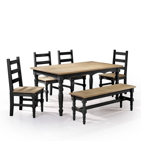 Manhattan Comfort Jay Black 6pc Dining Room Set MHC-CSJ107