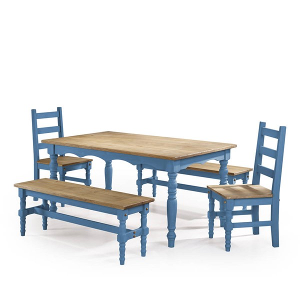 Manhattan Comfort Jay Blue 5pc Dining Room Set MHC-CSJ201