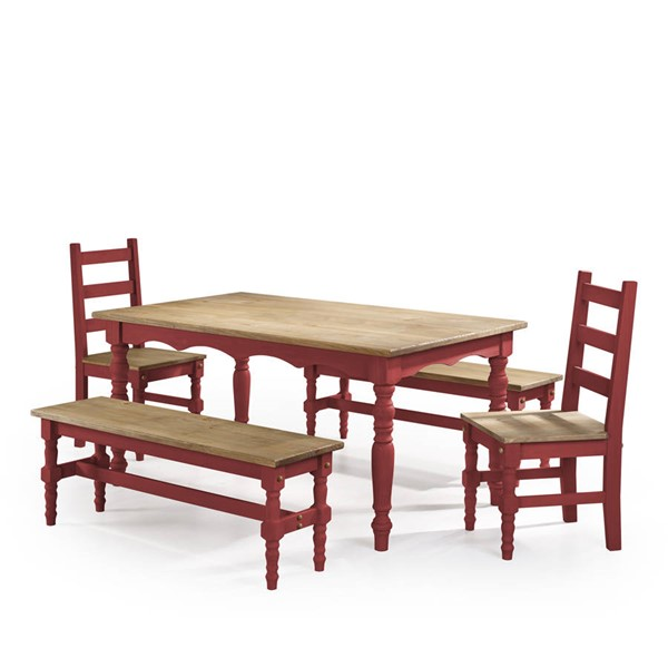 Manhattan Comfort Jay Red 5pc Dining Room Set MHC-CSJ203