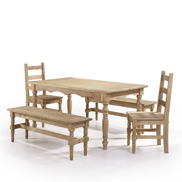 Manhattan Comfort Jay Nature 5pc Dining Room Set MHC-CSJ206