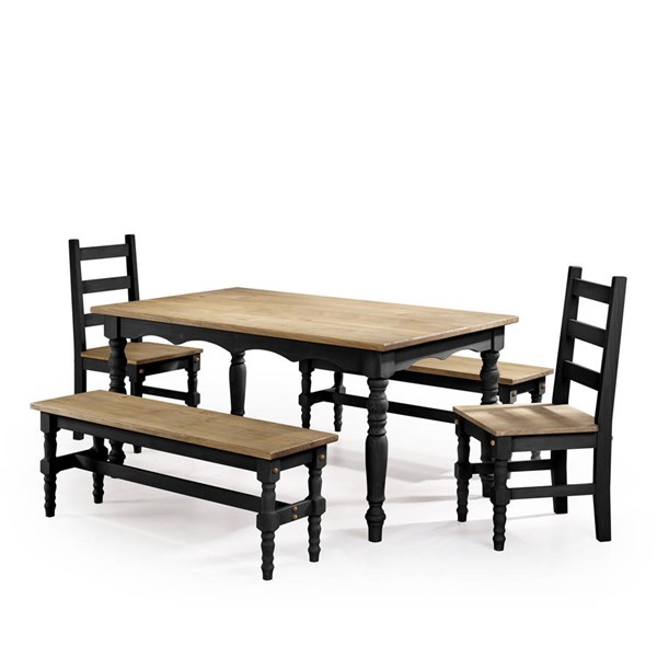 Manhattan Comfort Jay Black 5pc Dining Room Set MHC-CSJ207