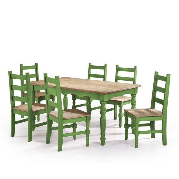 Manhattan Comfort Jay Green 7pc Dining Room Set MHC-CSJ304
