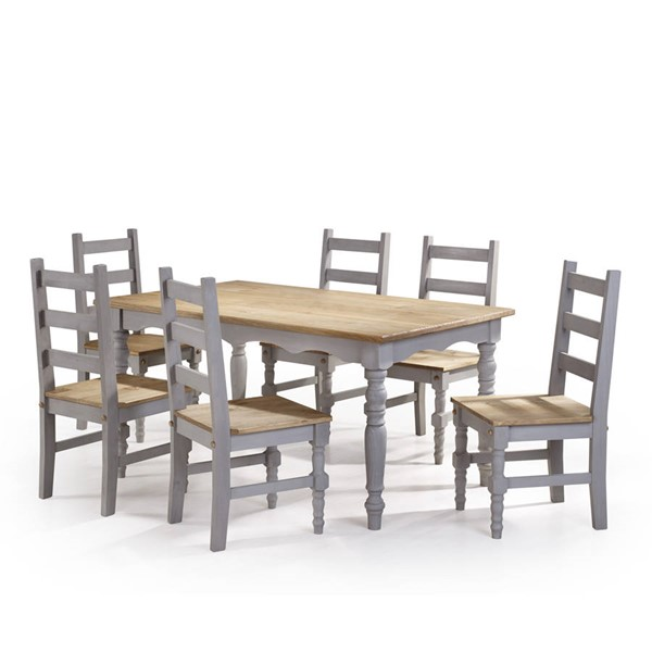 Manhattan Comfort Jay Gray 7pc Dining Room Set MHC-CSJ305