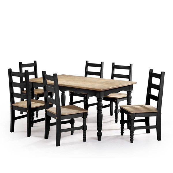 Manhattan Comfort Jay Black 7pc Dining Room Set MHC-CSJ307