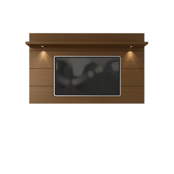 Cabrini Nut Brown MDF 2.2 LED Lights TV Panel (TV Mount Included) MHC-82351