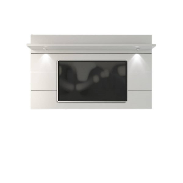 Cabrini White Gloss MDF 2.2 LED Lights TV Panel (TV Mount Included) MHC-82352