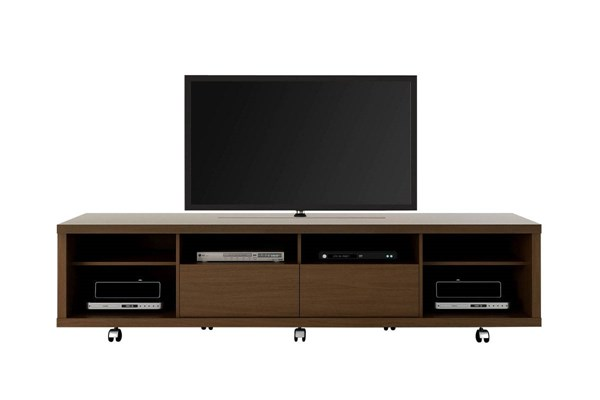 Cabrini Nut Brown MDF 2.2 Wheels Pro Touch Wooden TV Stand MHC-15372