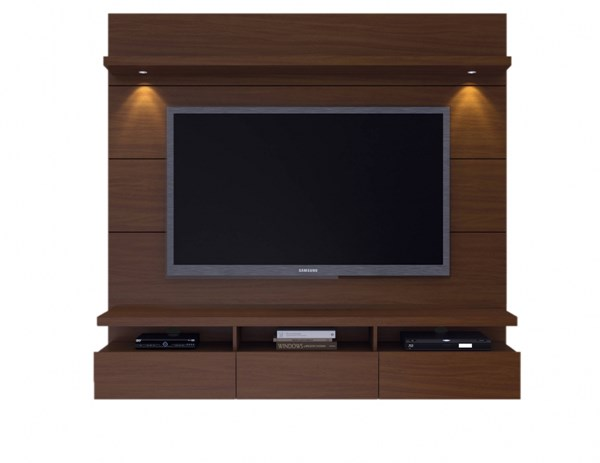 Cabrini Nut Brown MDF 1.8 Floating Panel Theater Entertainment Center MHC-23251