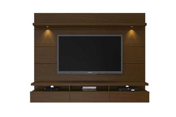 Cabrini Nut Brown MDF 2.2 Floating Panel Theater Entertainment Center MHC-23351