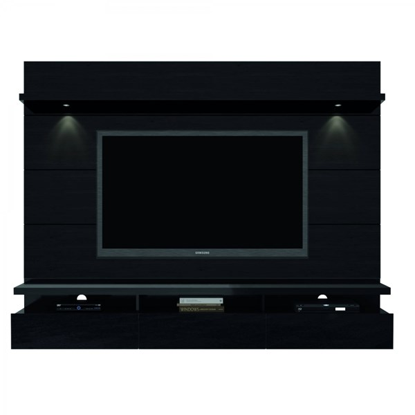 Cabrini Black MDF 2.2 Floating Panel Theater Entertainment Center MHC-23353