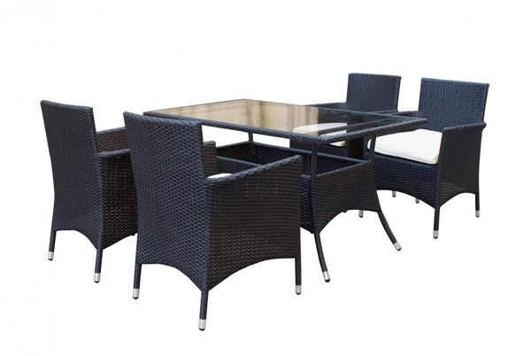Mulberry PE Rattan Wicker 5pc Outdoor Dining Table Sets MHC-MC105-OUT-DR-VAR