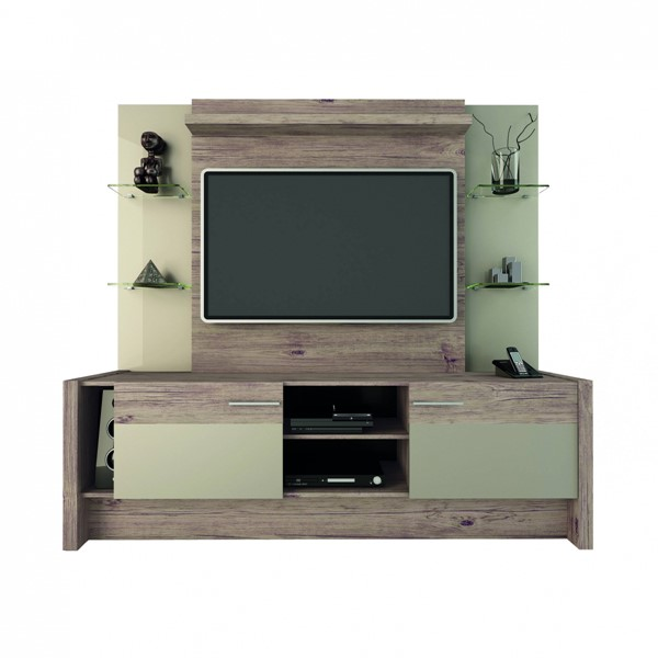 Manhattan Comfort Morning Side Nature Nude 2 Shelf Entertainment Center MHC-22955
