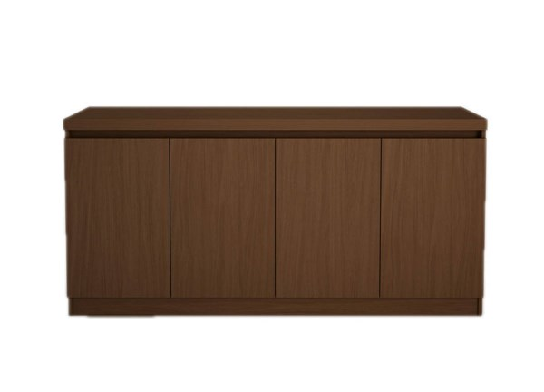 Viennese Elegant Nut Brown MDF MDP 62.99 Inch 6-Shelf Buffet Cabinet MHC-100672