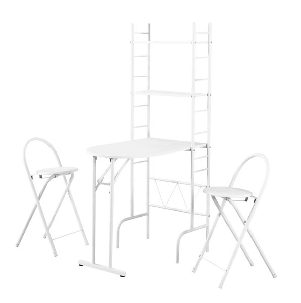 Monarch Specialties White 3pc Dining Set MNC-I-1010