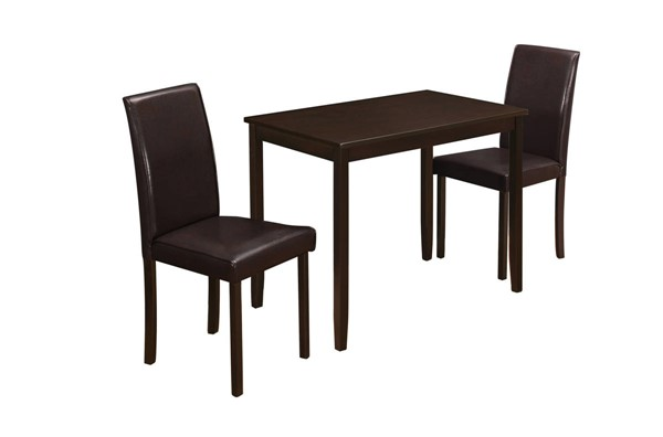 Monarch Specialties Cappuccino Rectangle 3pc Dining Set MNC-I-1015