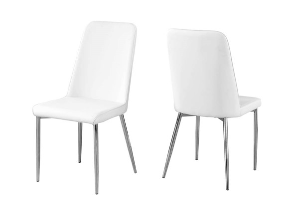 2 Monarch Specialties White Dining Chairs MNC-I-1033