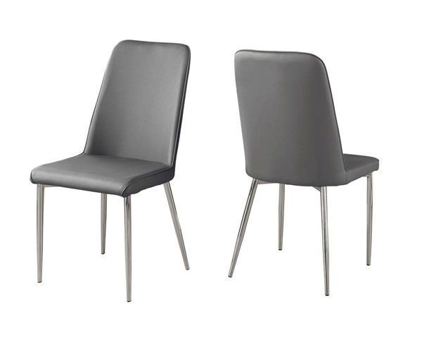 2 Monarch Specialties Grey Dining Chairs MNC-I-1035