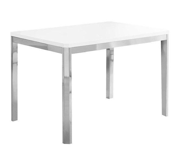 Monarch Specialties White MDF Metal Dining Table MNC-I-1041