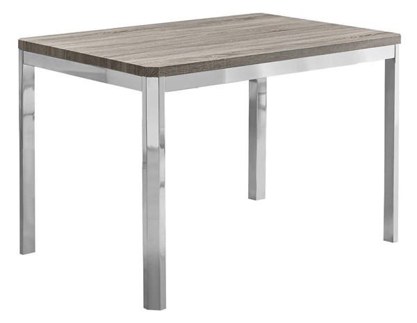 Monarch Specialties Taupe MDF Metal Dining Table MNC-I-1042