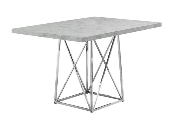 Monarch Specialties Grey Cement Dining Table MNC-I-1043
