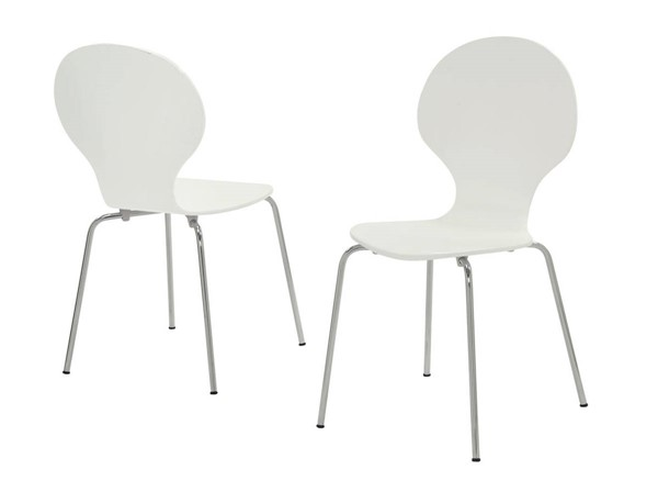 4 Monarch Specialties White Dining Chairs MNC-I-1048