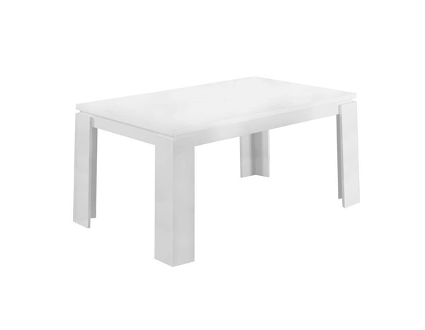 Monarch Specialties White Laminate MDF Dining Table MNC-I-1056