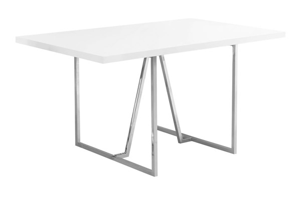 Monarch Specialties White Rectangle Dining Table MNC-I-1063