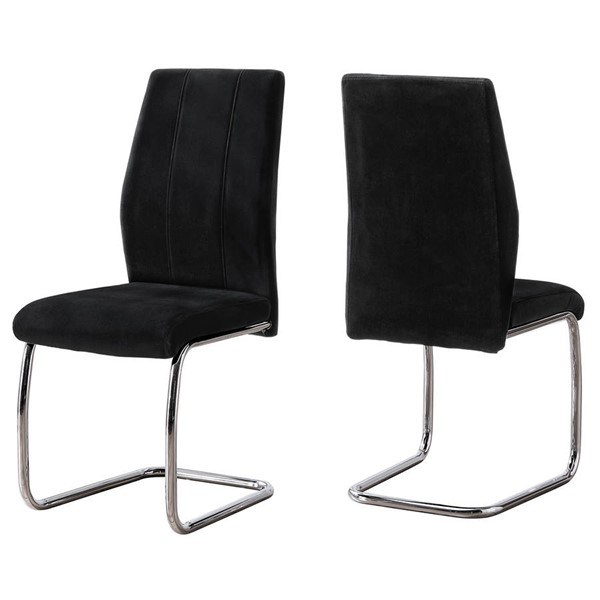 2 Monarch Specialties Velvet Dining Chairs MNC-I-106-DR-CH-VAR