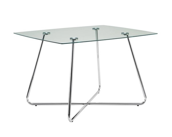 Monarch Specialties Clear Glass Rectangle Dining Table MNC-I-1069