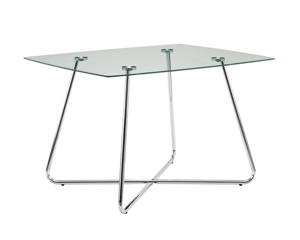 Monarch Specialties Clear Glass Square Dining Table MNC-I-1070