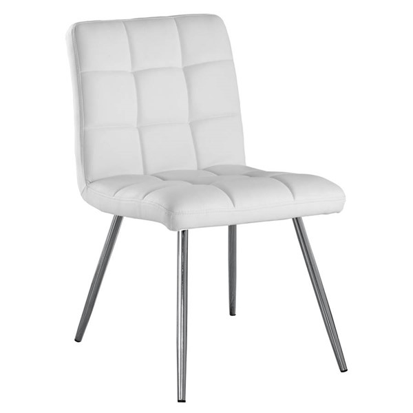 Monarch Specialties White Leather Dining Chairs MNC-I-1071-DCH-VAR