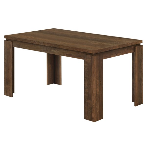 Monarch Specialties Brown Particle Board Dining Table MNC-I-1086